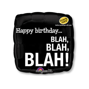 "18"" Шар квадрат Happy Birthday BLA_BLA_BLA Оскорбления"