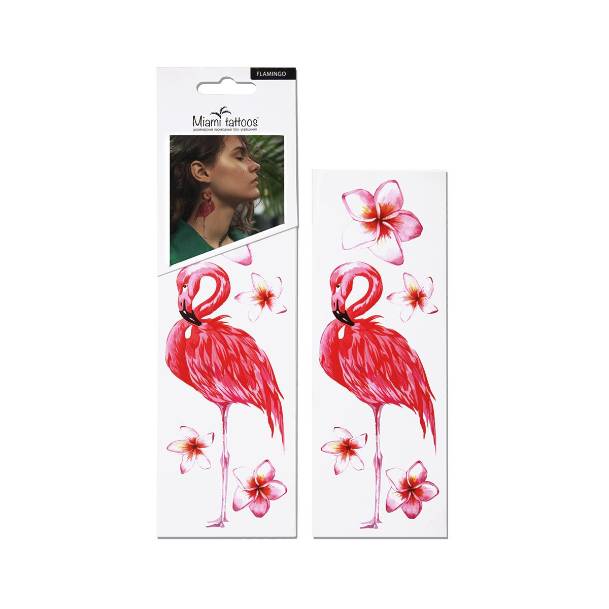 "Переводные тату MiamiTattoos ""Flamingo"" мини;"