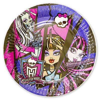 Тарелка Monster High 17 см, 8 шт