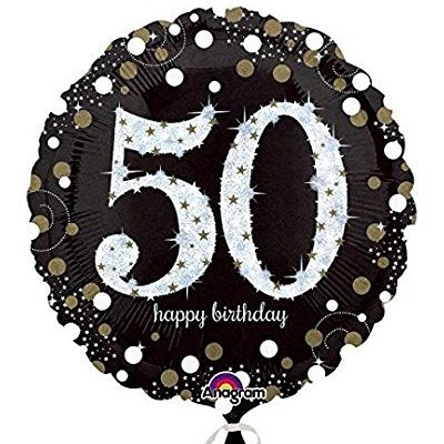 18К HB Sparkling Birthday 50 gold S55